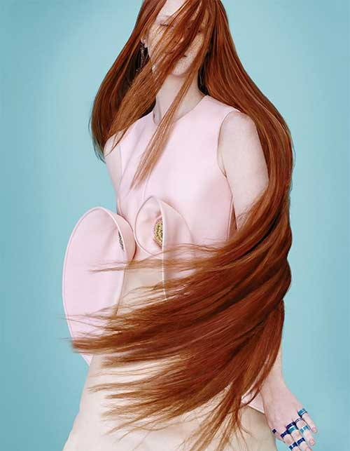 Very Long Ginger Hairstyle