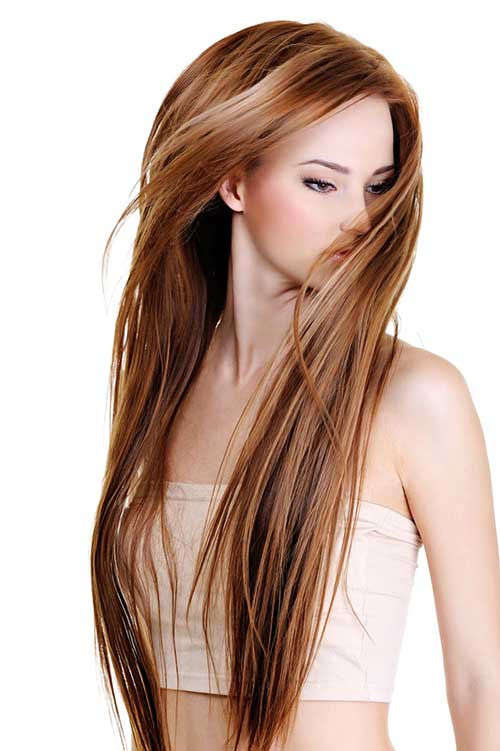 Long Straight Highlighted Hairstyles