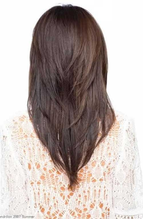 V Haircut Style for Long Hair