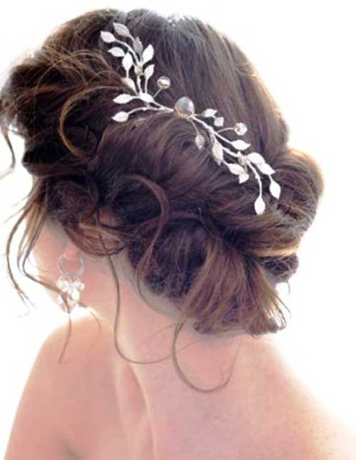 Wedding Up-Do Hair Style with Accessories