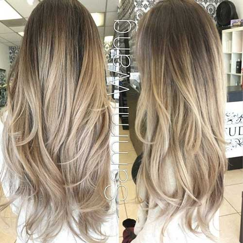 Ash Blonde Ombre Hairstyles
