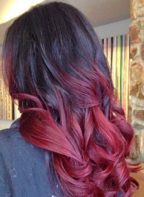 Black-Red Ombre Hairstyles