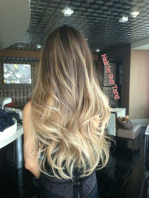 Blonde Balayage Ombre Hairstyle