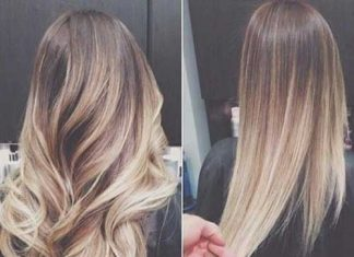 Ombre Hairstyle Wavy-Straight Ideas