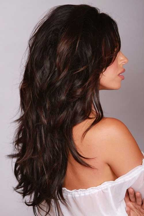 Dark Brunette Brown Hair