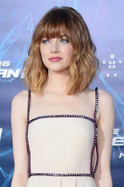 Emma Stone Ombre Hair with Bangs