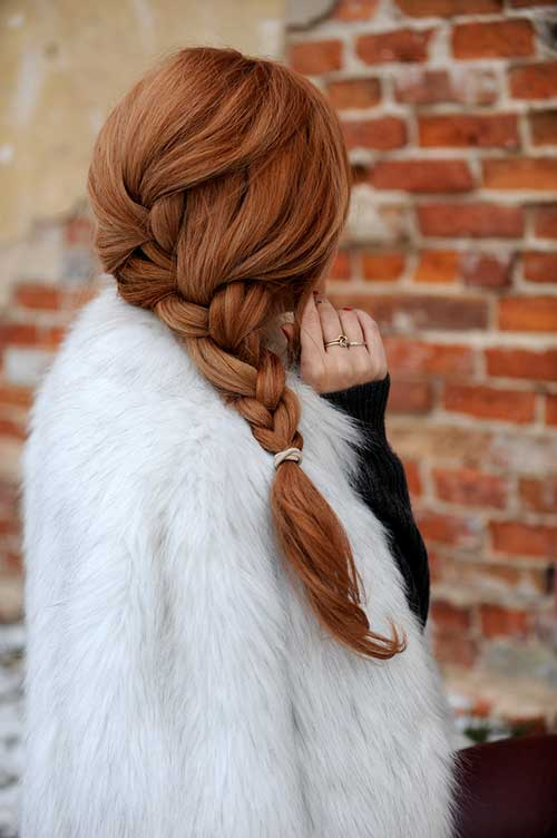Ginger Long Hair with Braid