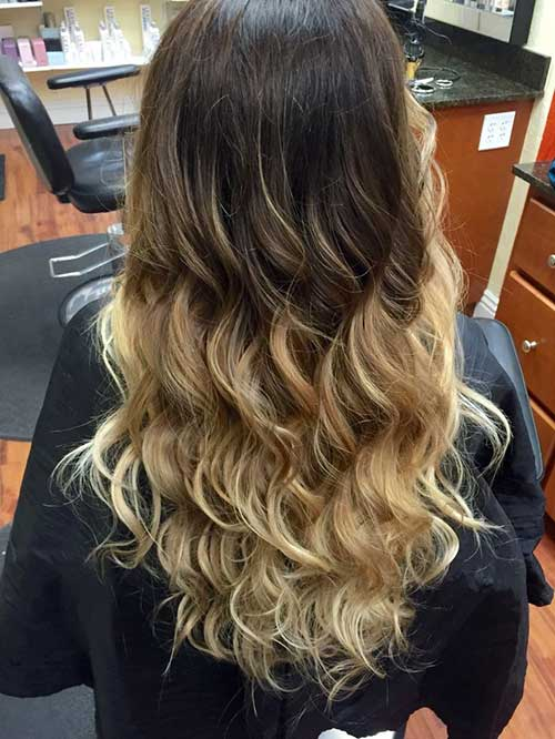 Highlighted Curly Long Hairstyles