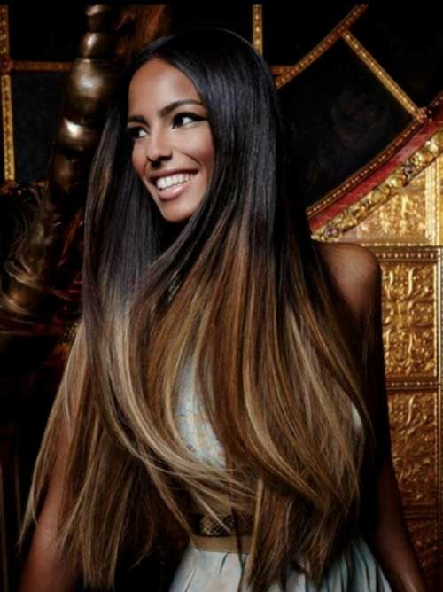 Dark Ombre Hairstyle Ash Brown Style