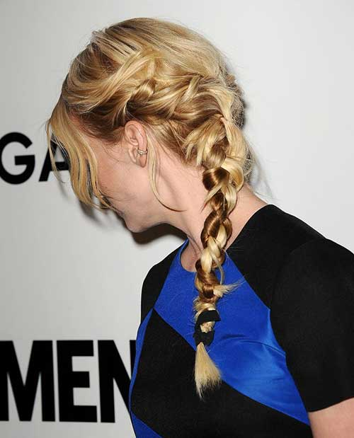 January Jones Hair Braid