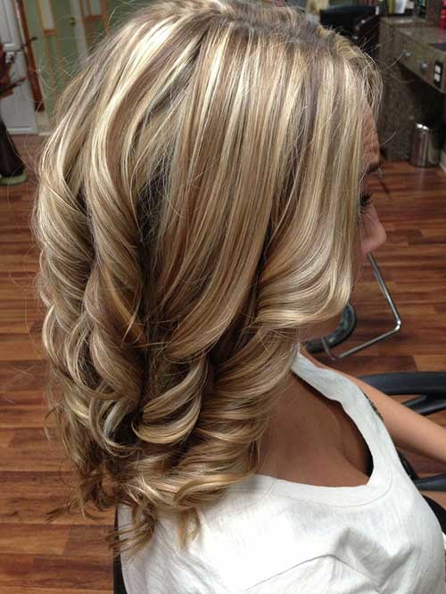 Layered Honey Blonde Coloured Hair