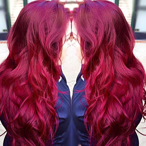 Long Red Hairstyles Waves