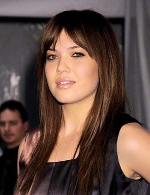 Mandy Moore Layered Bangs Hairstlyle