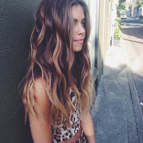 Colored Style Long Hairstyles for Girls