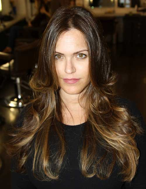 Ombre Long Layered Haircuts