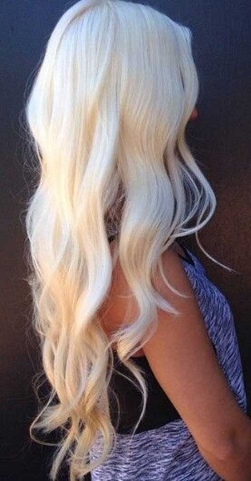 Platinum Blonde Hairstyles with Waves