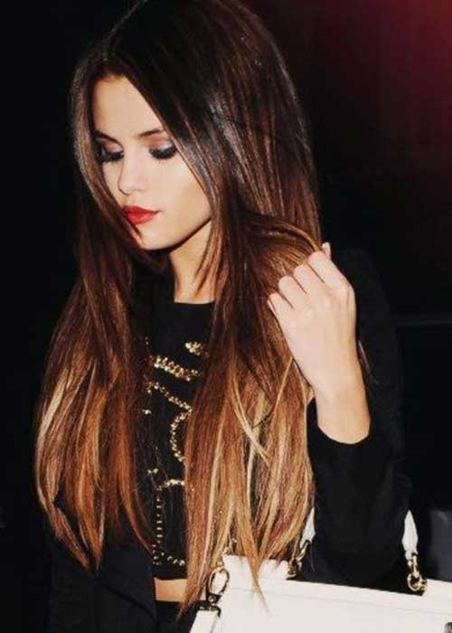 Selena Gomez Ombre Hair 2014-2015