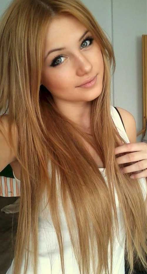 Strawberry Blonde Fine Straight Hairstyles