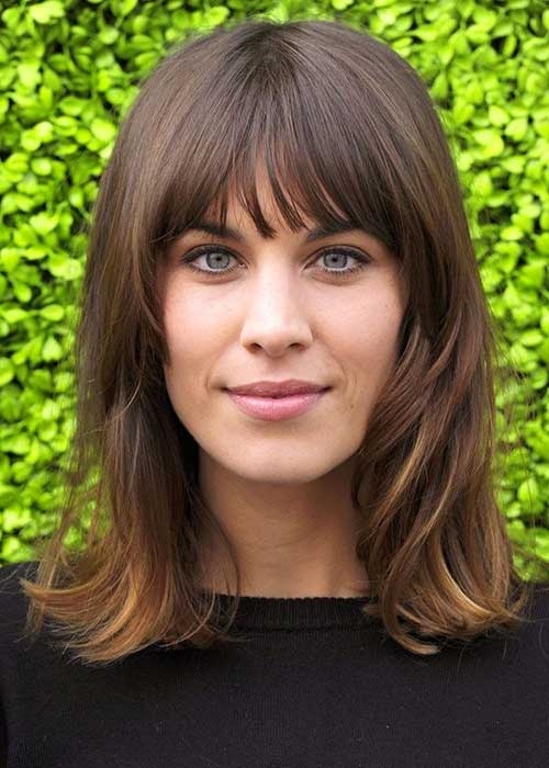 Alexa Chung Hair Cuts with Bangs