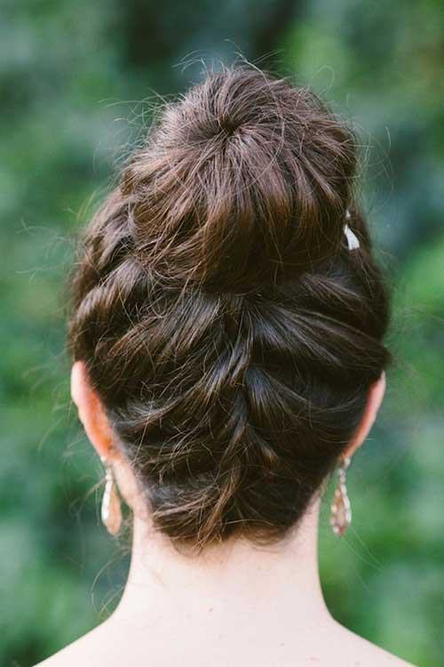 Back of Nice Braided Bun