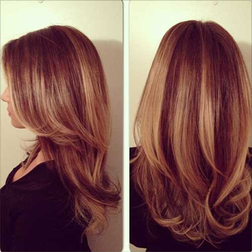 Balayage Highlights Red Hairstyle