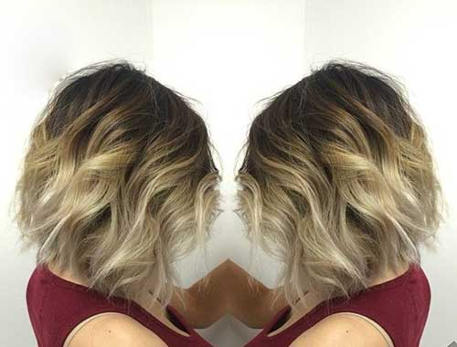Balayage Ombre Short Wavy Hair