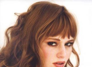 Bangs Curly Red Hair