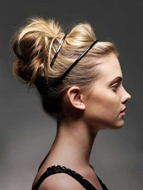 Blonde Messy High Bun for Wedding