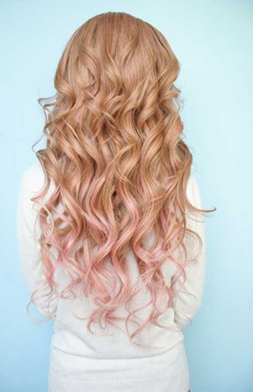 Cute Blonde and Pink Ombre Hair 2014-2015