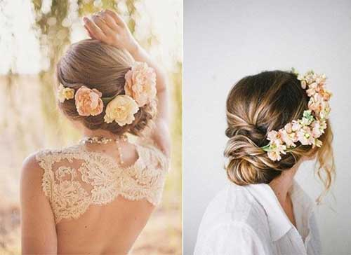 Boho Braided Low Buns for Wedding