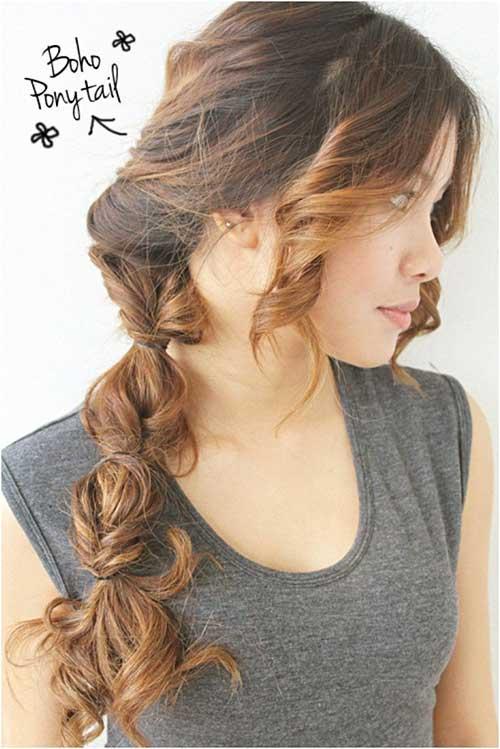 Boho Ponytail Hair with Braids