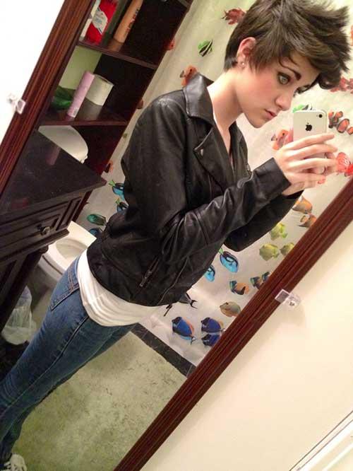 Boyish Long Pixie for Cute Girls