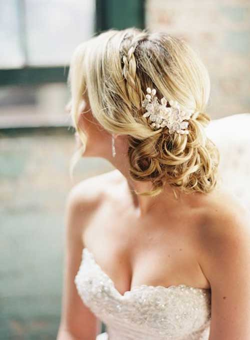 Nice Braided Bridal Updo