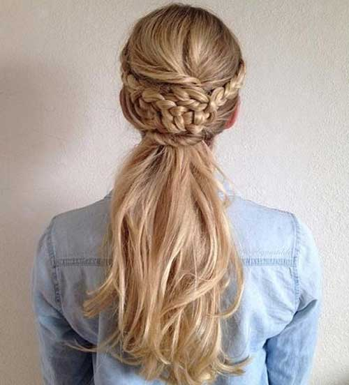 Braided Half Updo Long Hair Pictures