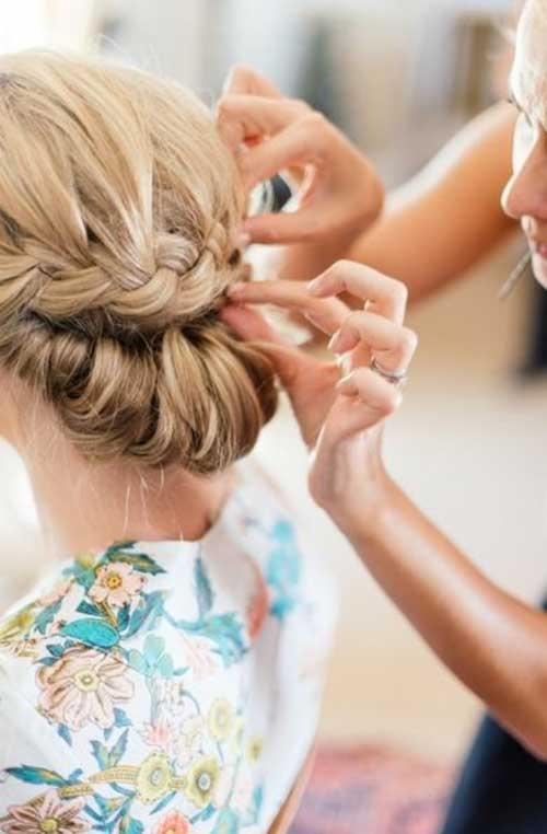 Wedding Braided Low Bun