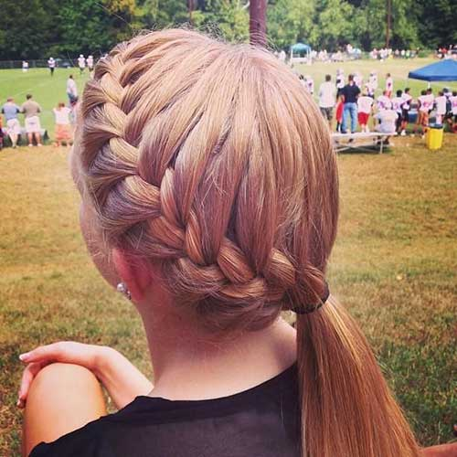 Cutest Braided Pony