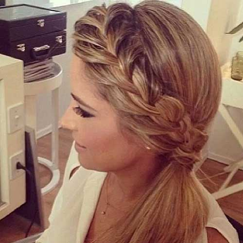 Braided Ponytail Hairstyles Updo