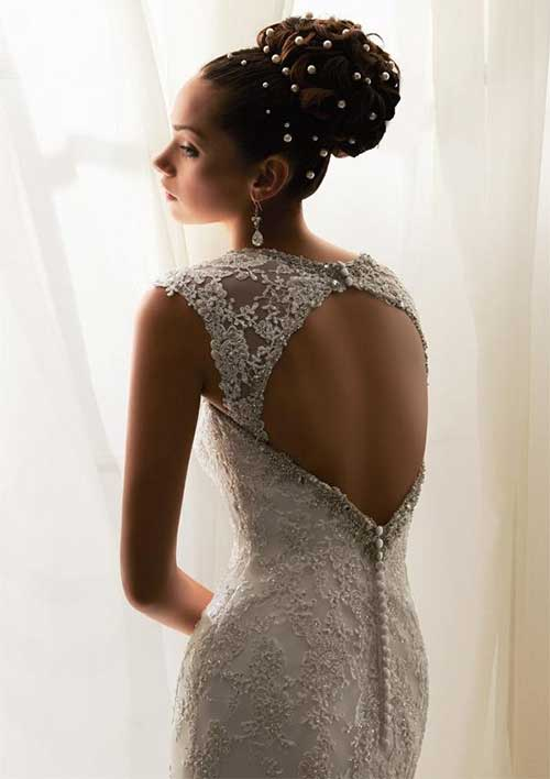Best Brunette Hair Good Bun for Wedding