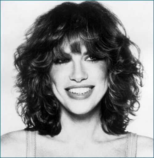 Carly Simon Hair with Bangs