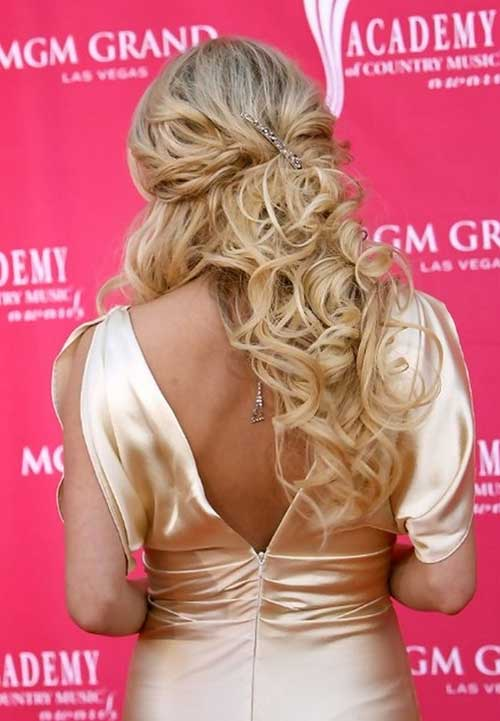 Carrie Underwood Half Up Hairstyles