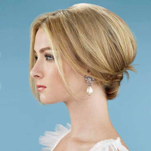 Classic Short Bun Wedding Hairstyles
