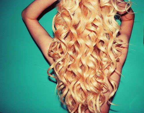 Blonde Curly Hair Perm