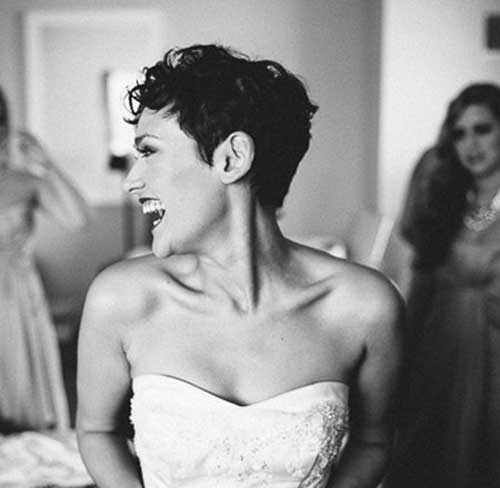New Curly Pixie Cut for Brides