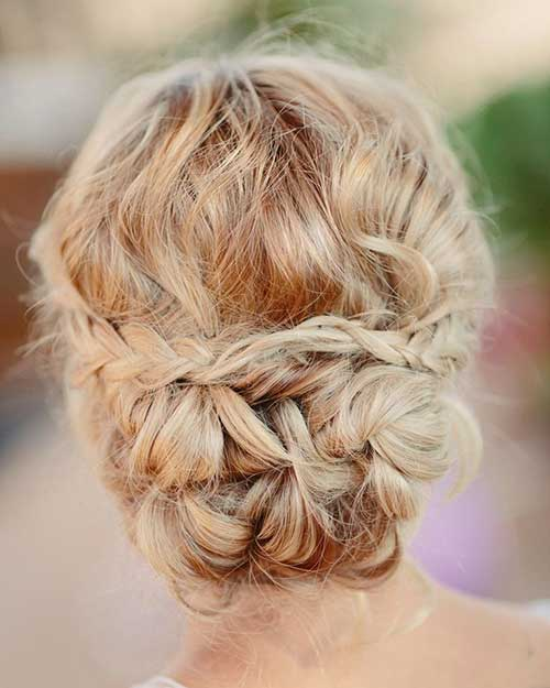 Cute Braided Wedding Blonde Hair