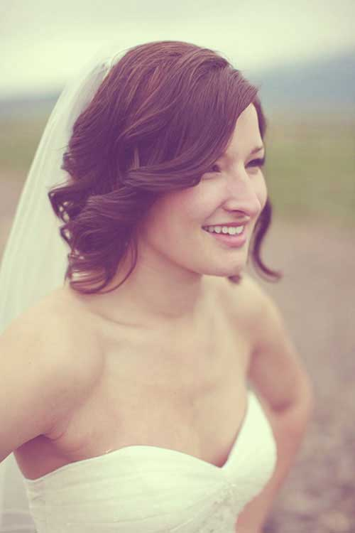 New Cute Curly Wedding Short Hair
