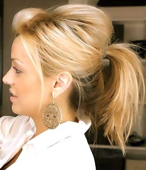 easy ponytail styles for medium hair 30 easy and hairstyles hairstyles amp haircuts 2016 6650