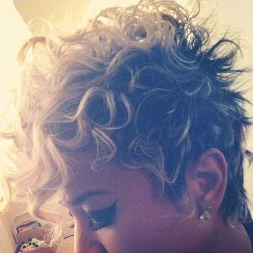 Cute Long Blonde Pixie with Curls