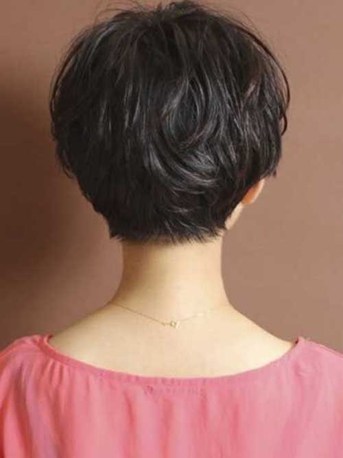 Cute Pixie Hair Back View