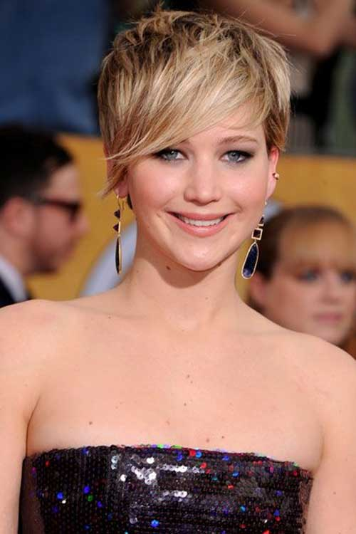 Jennifer Lawrence Cute Pixie Cut