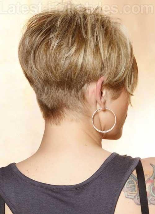 Cute Short Pixie Hair Back